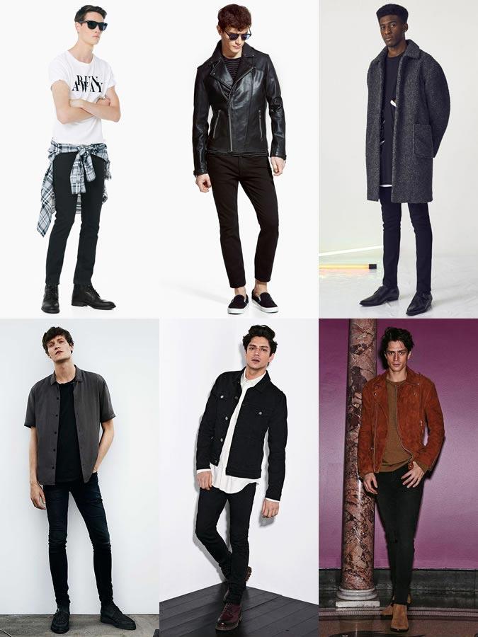 Фото - Черные обтягивающие джинсы
