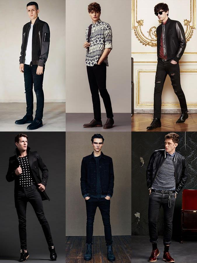 Фото - модные мужские обтягивающие джинсы
