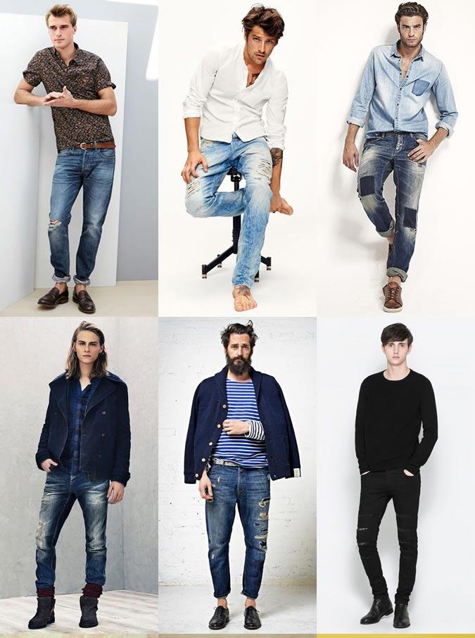 Фото - рваные джинсы