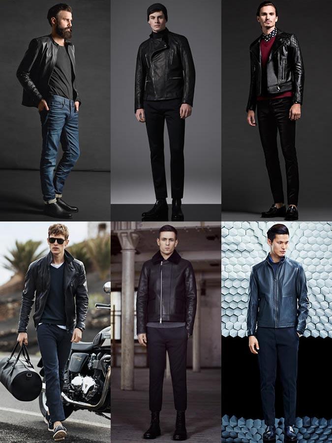 Фото кожаные куртки разных цветов