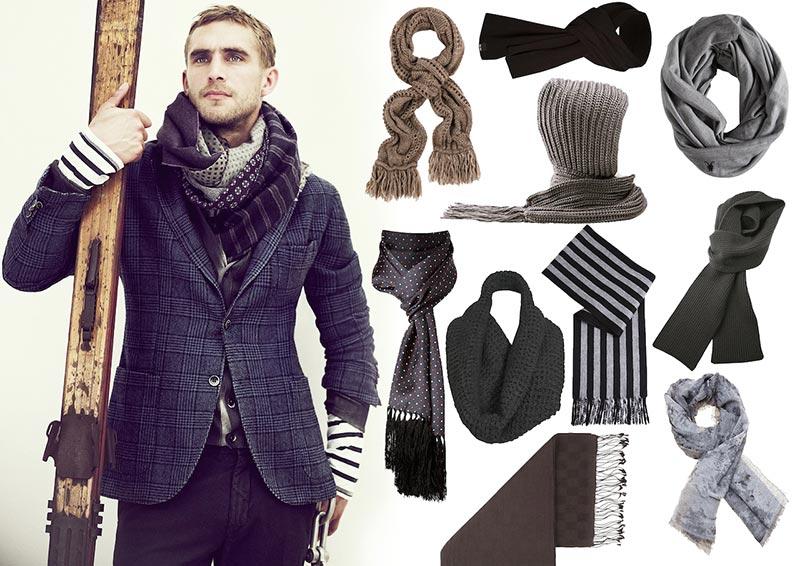 17bf69aafa2 Фото - Мужской шарф  как завязывать и с чем носить