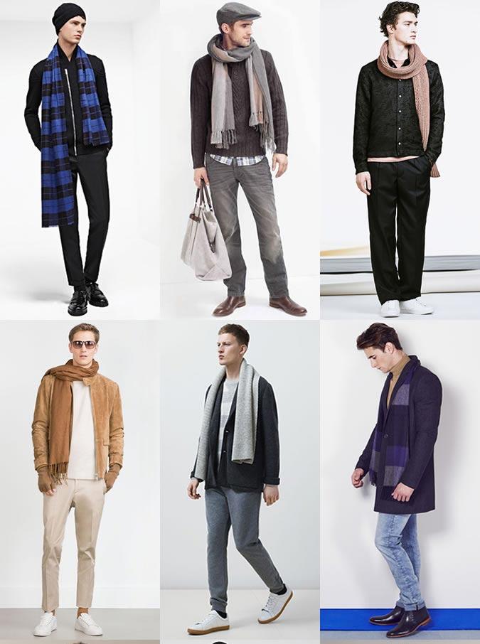 Фото - Основные мужские аксессуары осень-зима 2015: шарф