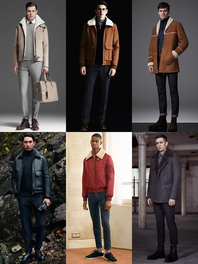 Фото - модные мужские дубленки 2015-2016