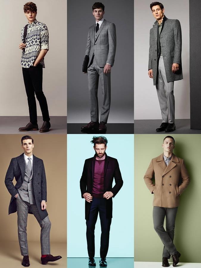 Фото - мужской стиль с туфлями с круглым носком