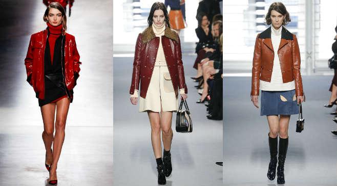 Фото - как носить кожаную куртку коричневого цвета