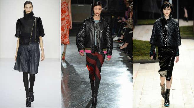 Фото 2 - Как носить кожаную куртку с юбками
