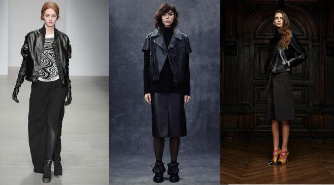 Фото 3 - Как правильно носить кожаную куртку с юбками