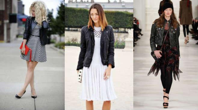 Фото 1 - Как сочетать кожаную куртку с платьями и туниками