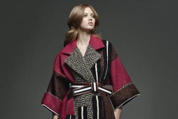 Запашное пальто: с чем носить