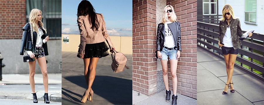 Фото - С чем носить женскую кожаную куртку
