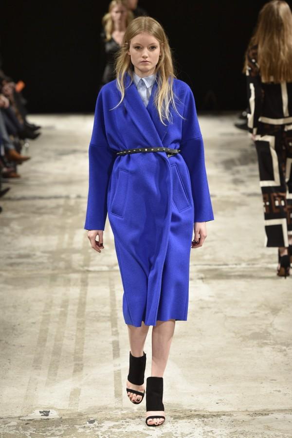 Фото - пальто-халат с чем носить