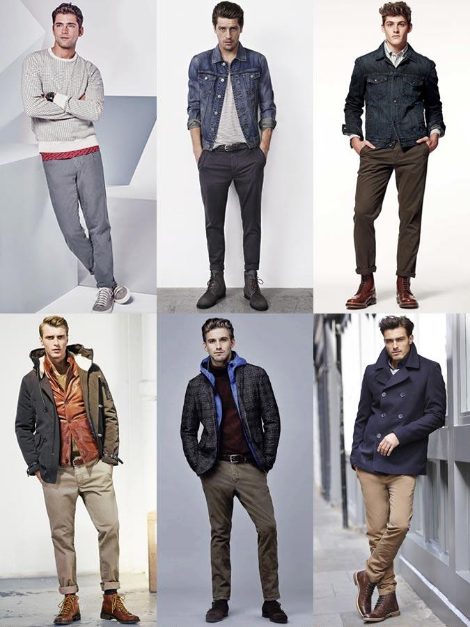 Фото - мужчины в брюках чинос