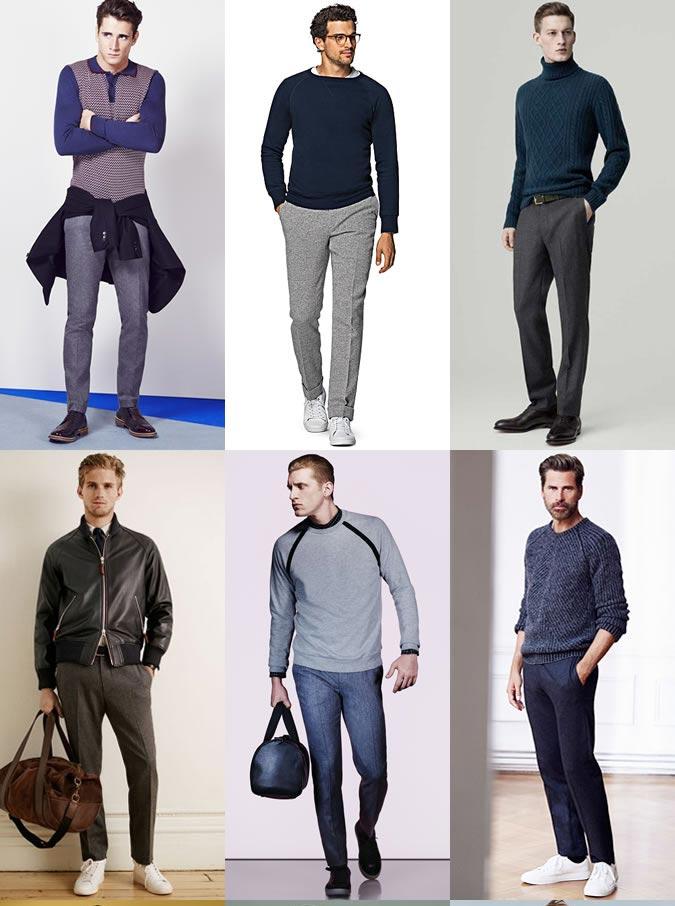 Фото парней в шерстяных брюках