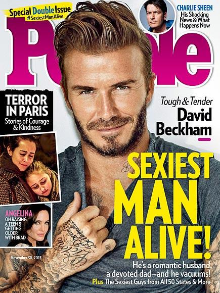 Фото - Дэвид Бэкхем на обложке журнала People