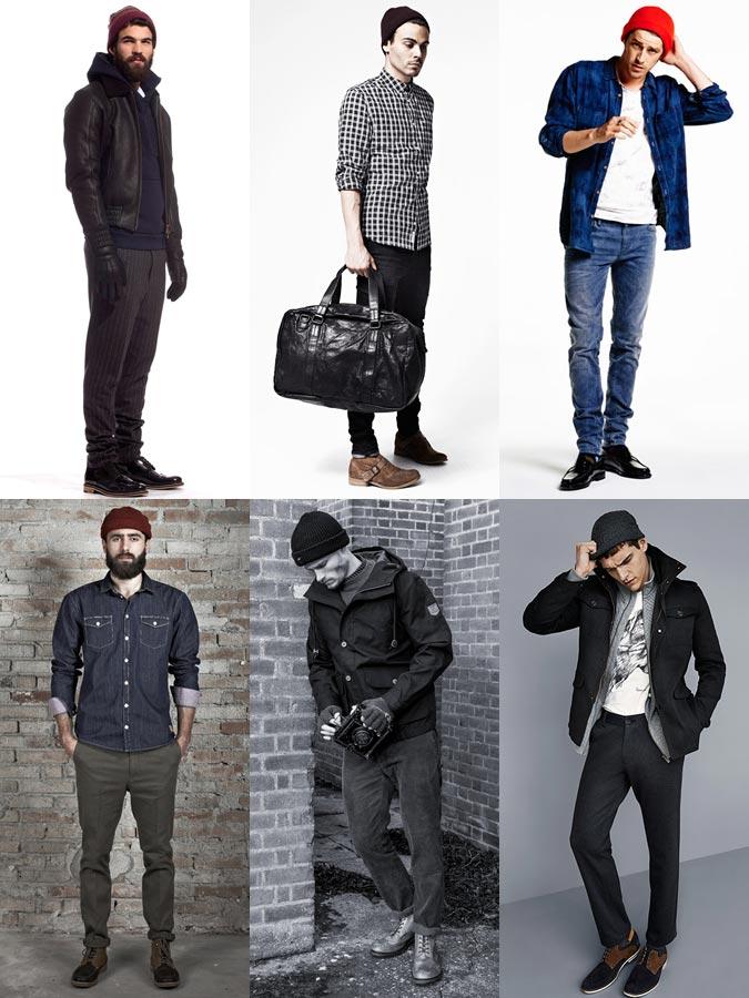 Фото - Модные мужские образы зима 2015: вязаные шапки