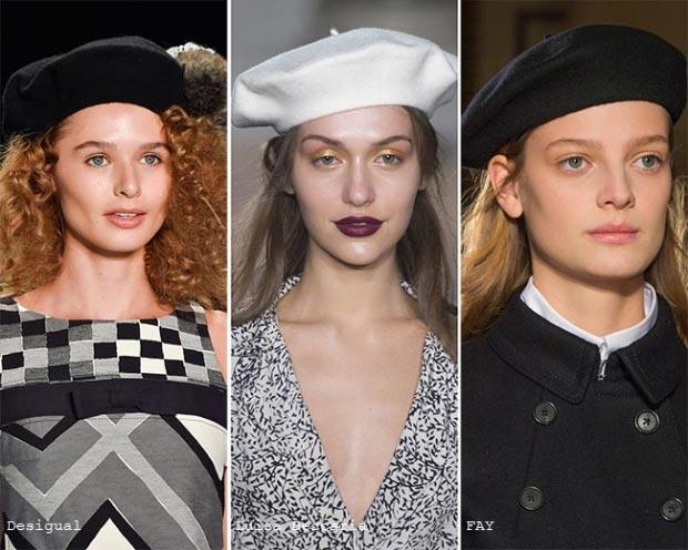 Фото - женские береты в моде 2016