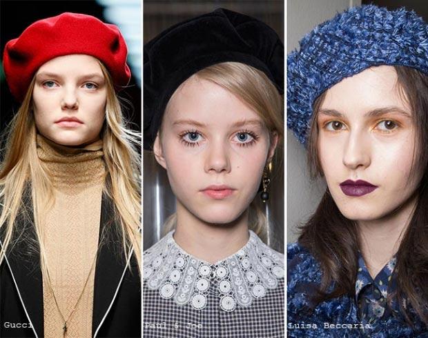 Фото - Модные береты на зиму 2015-2016 года