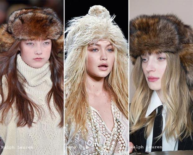 Фото - меховые шапки в моде