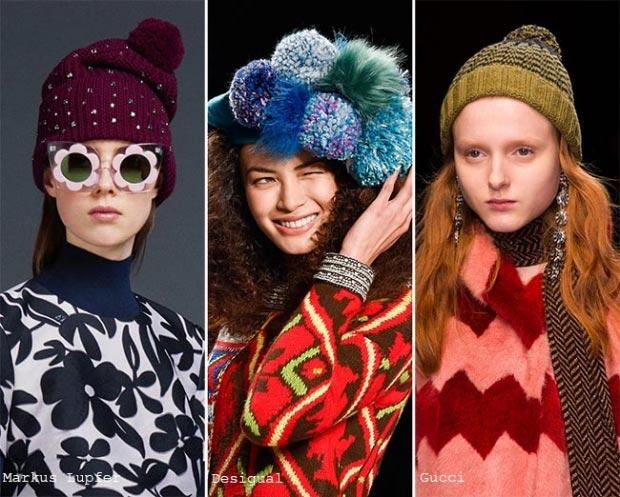 Фото - женские вязаные шапки в моде зимой 2015-2016