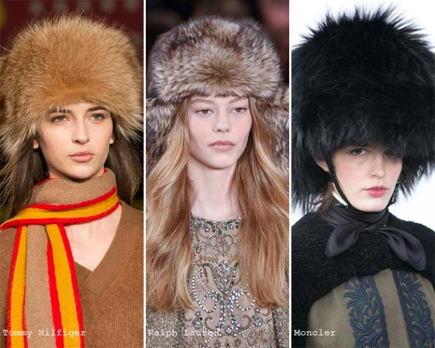 Фото - модные шапки из меха на зиму 2016