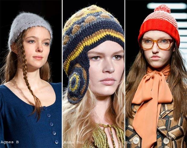 Фото - модные вязаные шапки 2015-2016