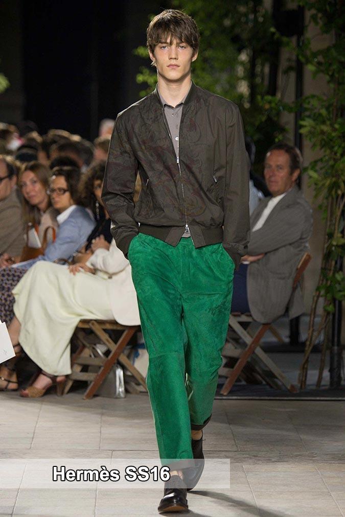фото - зеленые оттенки от Hermès весна-лето 2016