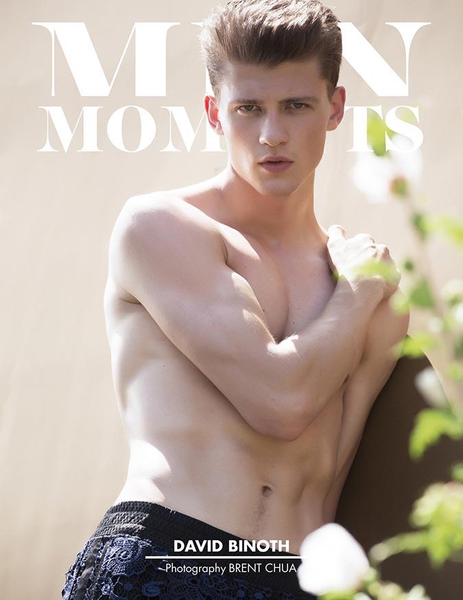 фото - Дэвид Бинот на обложке men moments magazine