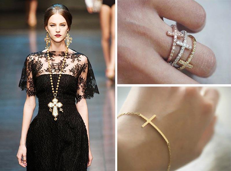 фото - Подвески и кольца с крестиками