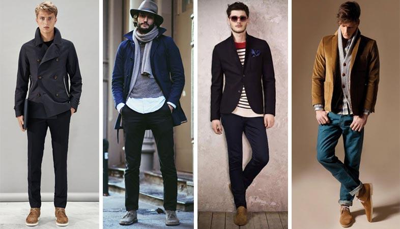 фото - как носить дезерты с пальто или блейзером