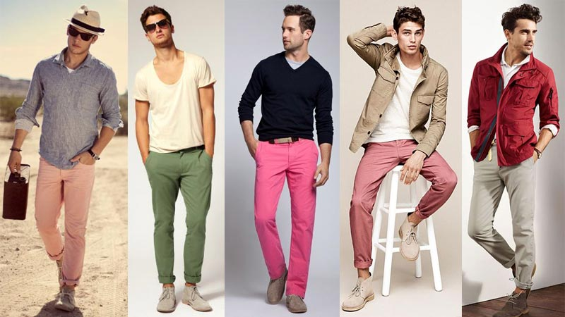 как носить дезерты с цветными чинос летом и весной