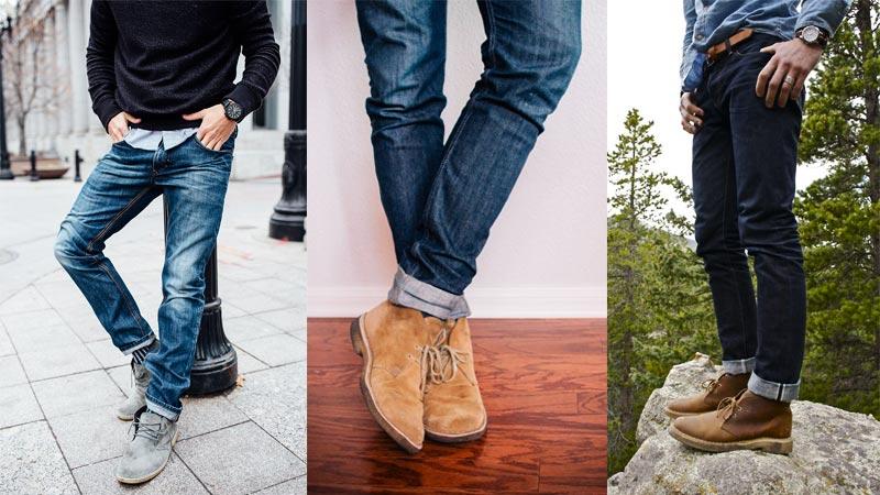 фото - дезерты с темными джинсами