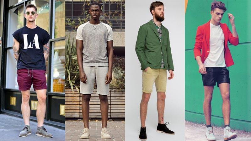 фото - как носить дезерты (ботинки) с шортами