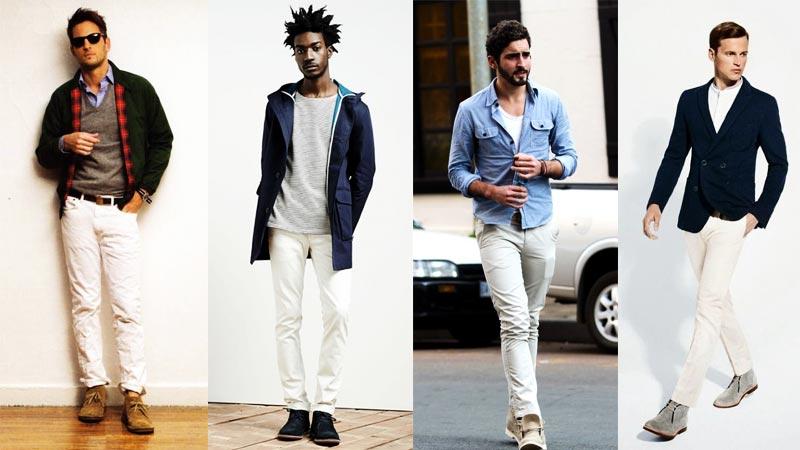 фото - как носить дезерты с белыми штанами