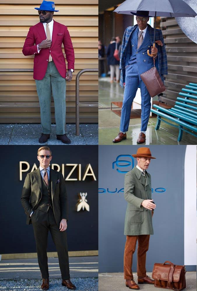 фото - яркие классические костюмы