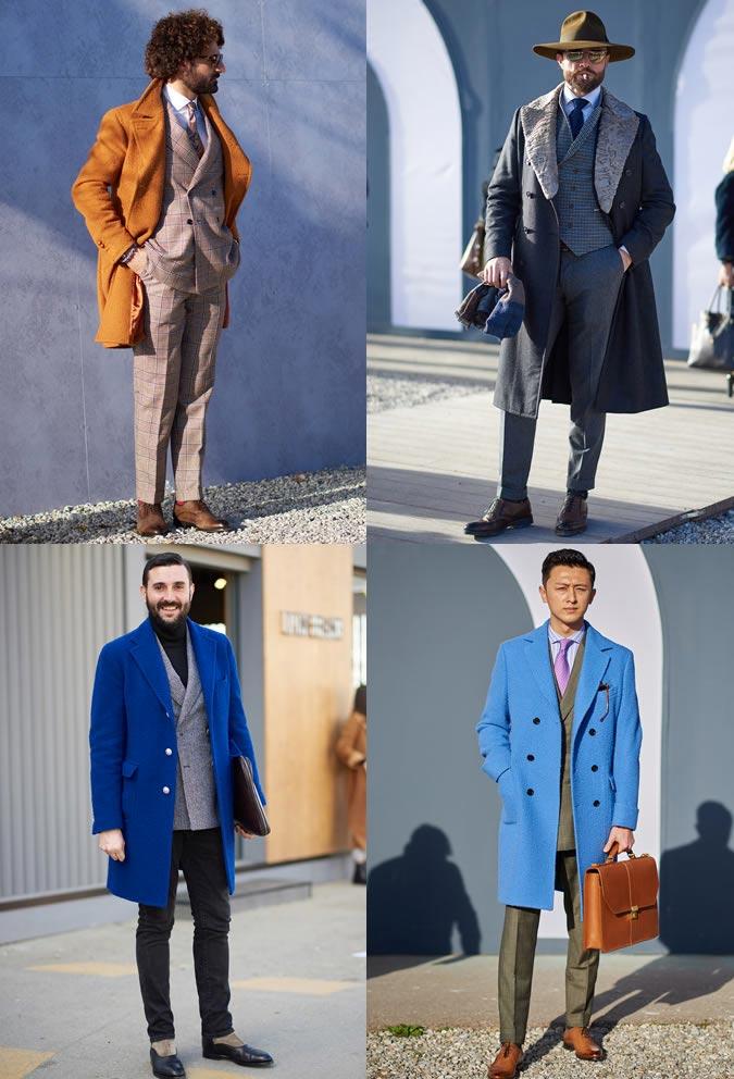 фото - цветные пальто