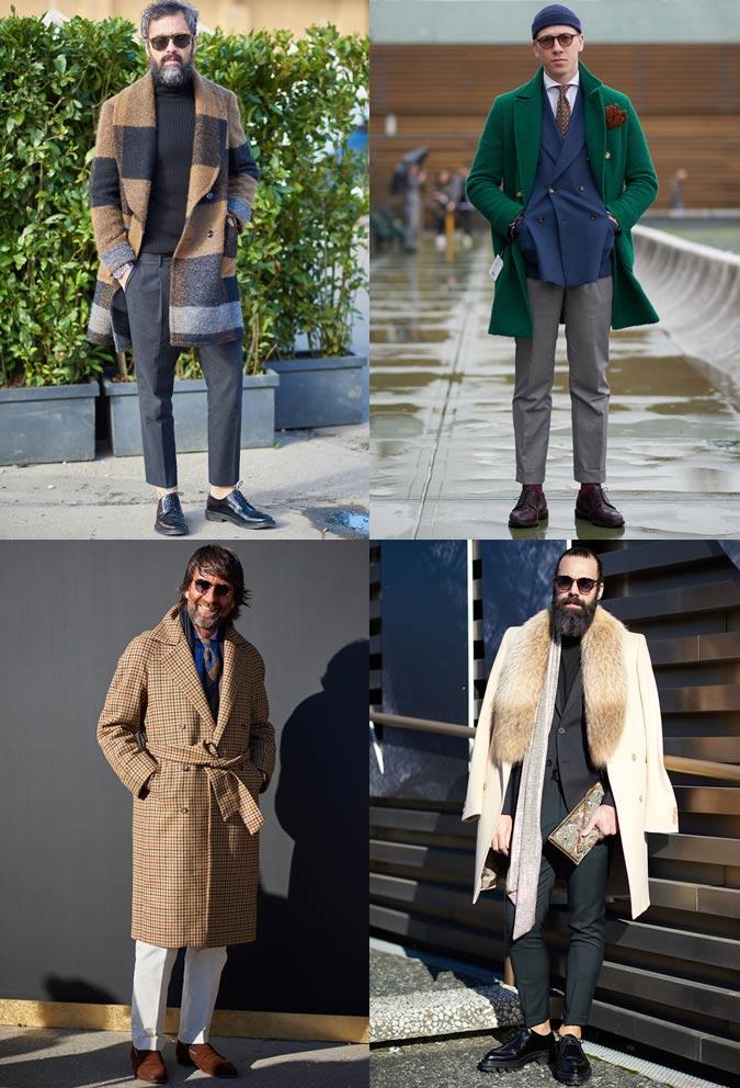 фото - стильные цветные пальто для мужчин