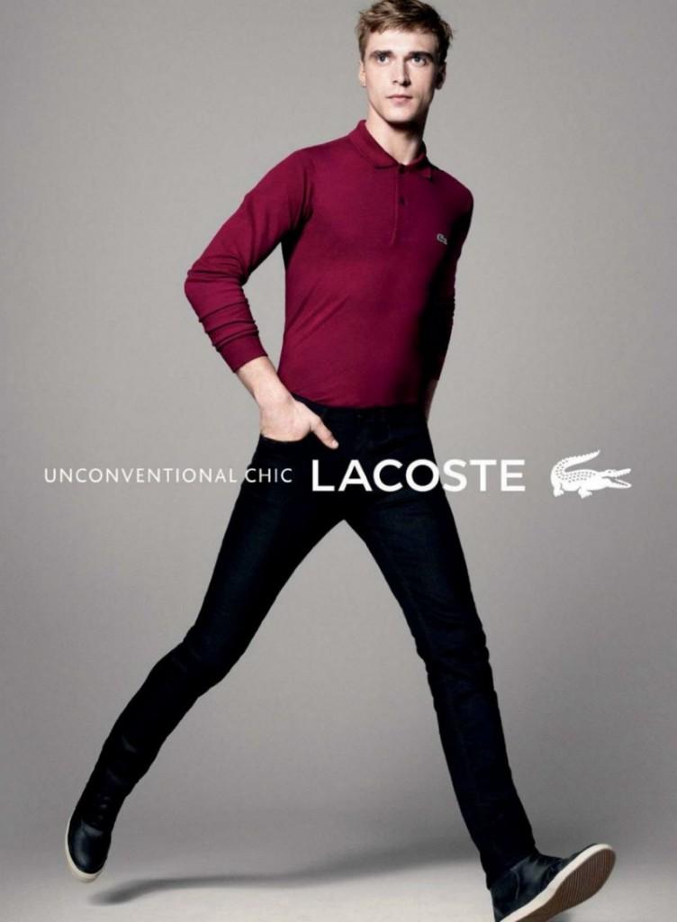 фото - рубашка поло от Lacoste с длинными рукавами