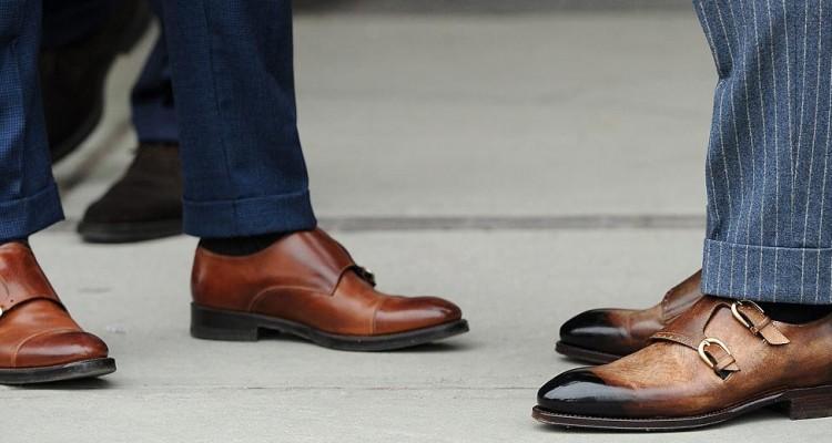 фото - с чем носить мужские коричневые туфли