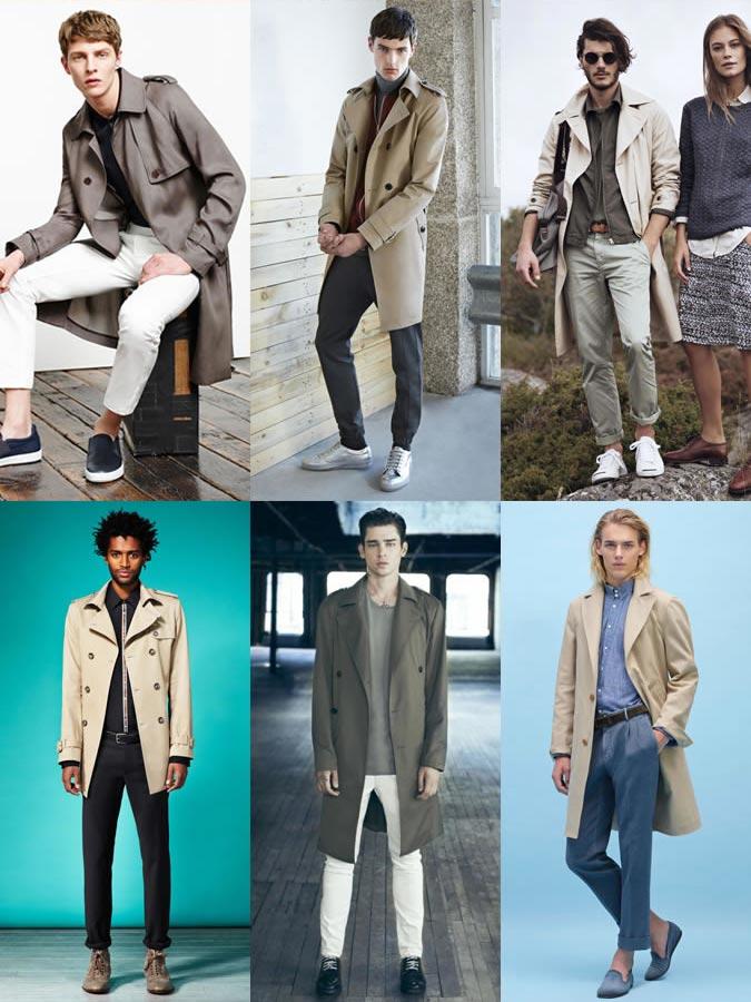 мужские модные весенние плащи 2017 с чем носить