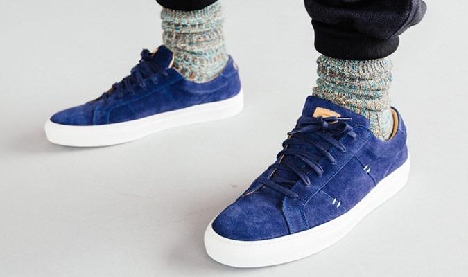 фото - темно-синие скейтерские кеды от GREATS