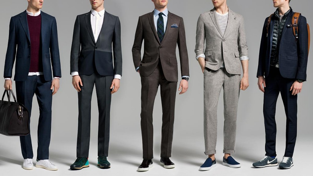 фото - 6 рекомендаций того, как носить костюм с кроссовками