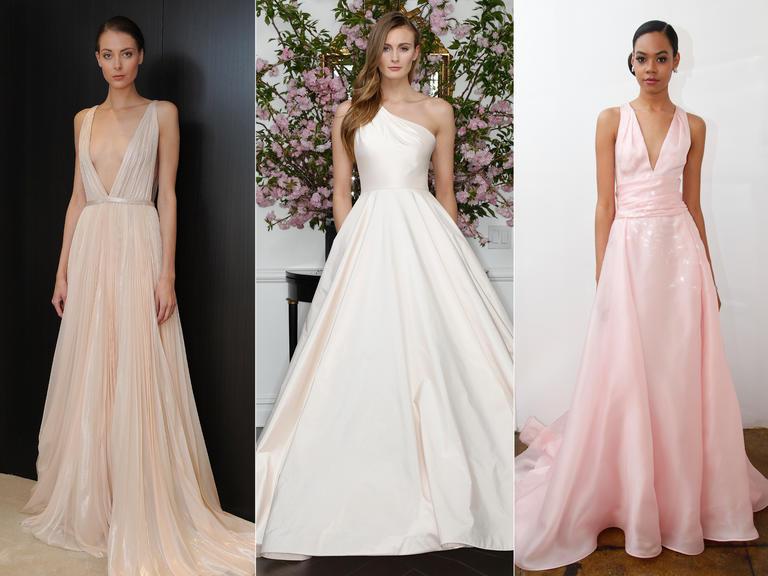 фото - свадебные платья розовых оттенков в тренде весной 2016