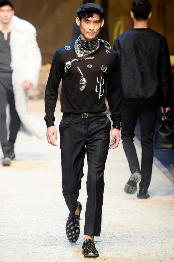 фото - Им Вук на Dolce & Gabbana FW 16/17 (Милан)