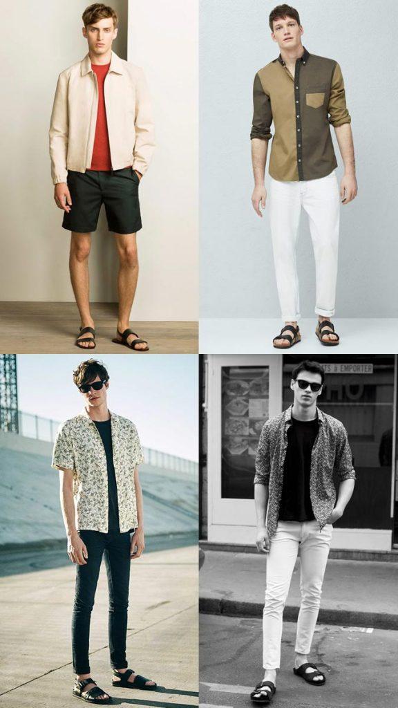 фото - мужские сандалии в моде летом 2016