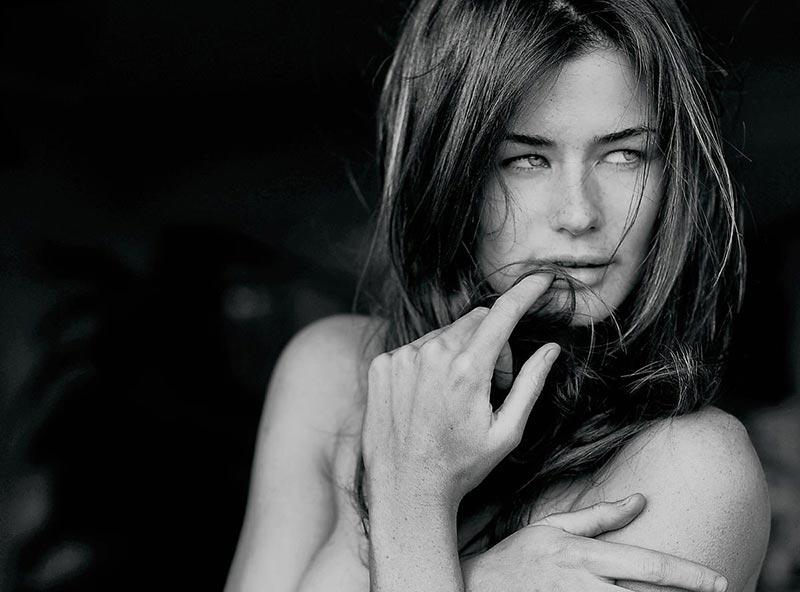 фото - черно-белое фото девушка-модель