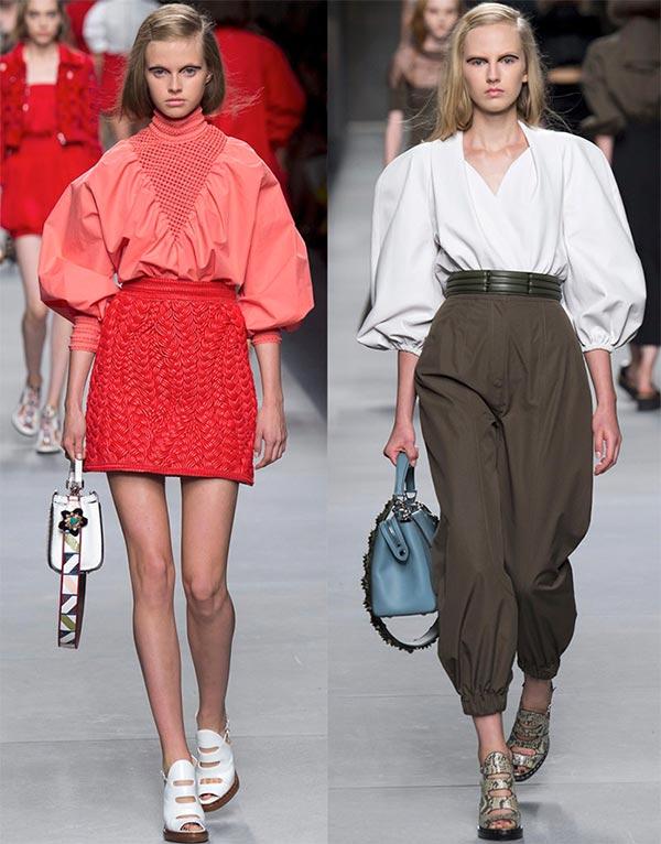 фото - женская блузка с рукавами-фонариками