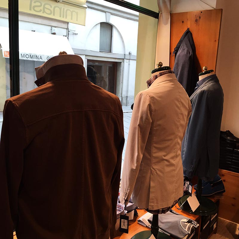 фото - магазин мужской одежды в Павии Minasi