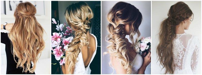 фото - свадебные прически 2016: свободная коса