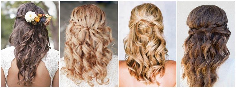 фото - свадебные прически для девушек 2017 для средней длины волос