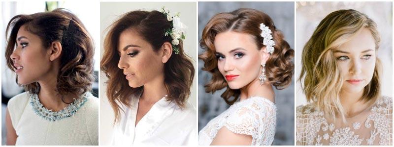 фото - волосы закрепленные с одной стороны для свадьбы